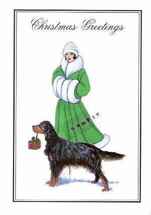 Gordon Setter Christmas Cards Lisa and Graham - Pack of 10*
