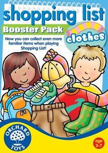 Orchard Toys Educational Games - Shopping List Booster Pack - Clothes -Brand New