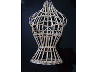 WICKER Display Mannequin / Jewellery Stand / Vintage