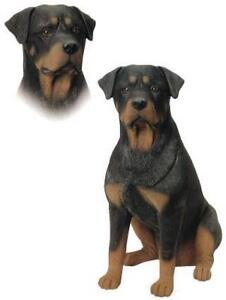 AWESOME LIFE-SIZE ROTTWEILER DOG STATUE SOLID RESIN!