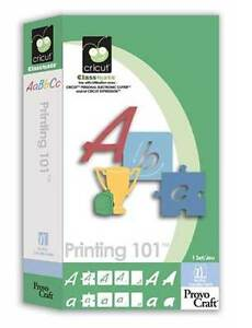 RETIRED Cricut Printing 101 FONT cartridge - $40