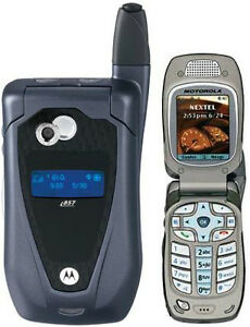 Motorola i857 TELUS Mike Camera Flip Phone,, Mint Shape
