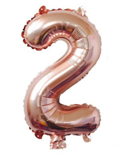 "Rose Gold 32"" Foil Number Balloons"
