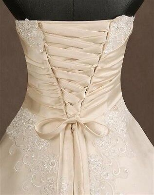 Beautiful Lace Up Back Of Wedding Dress