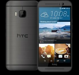 HTC One M9 Grey (Unlocked) Smartphone in good condition