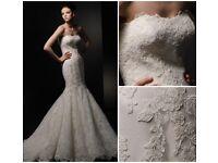 White Enzoani wedding dress