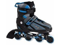 SFR Vortex Adjustable Kids Inline Skates Blue - Size 3 to 6