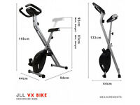 Folding exercise bike, as new, consistent barely used.
