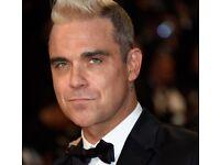 Robbie Williams tickets x 2 Etihad Saturday 3rd June
