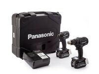 PANASONIC BRUSHLESS DUAL 18V 2X 5AH COMBI DRILL IMPACT DRIVER TWIN PACK