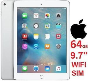 "NEW APPLE IPAD AIR 2 64GB CELLULAR - 111235635 - 4G SILVER 9.7"" TABLET - ELECTRONICS - SIM"
