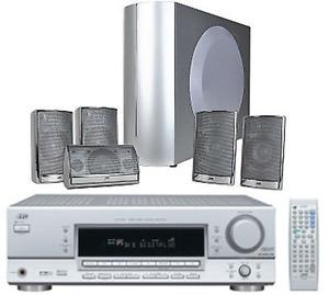 JVC RX-6042 5.1 Channel AV Receiver w/6-Piece Speaker & Remote