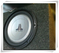 very nice JL Audio 12 inch; enclosed subwoofer for home or car