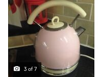 Candy pink and cream kettle