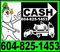 #1 TOWING and BUY JUNK CARS VANCOUVER*(6O4)825*I453*COQUITLAM