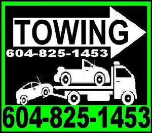 johns TOWING-FLAT DECK TOW TRUCK 604-825-1453