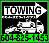 *TOWING-TOW TRUCK*(6O4)825*I453 VANCOUVER,Burnaby,Delta,Tricites
