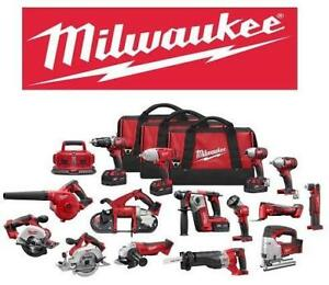 NEW MILWAUKEE 15 TOOL 18V COMBO KIT 2695-15 150326095 LITHIUM ION CORDLESS POWER TOOLS