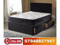 Designer Stock BRAND NEW DOUBLE DIVAN BASE WITH MEMORY FOAM (SINGLE / KING SIZE AVAILABLE)