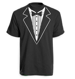 Tuxedo Suit Bow Tie Funny Joke Novelty T-Shirt Various Colours