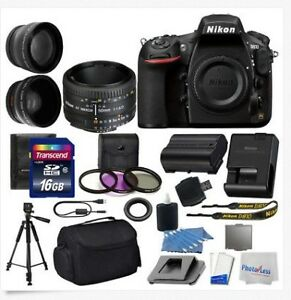 Nikon D810 Digital SLR Camera 3 lens: 50mm f/1.8D 16GB + More Gr