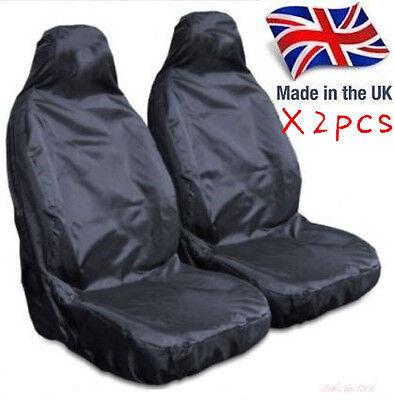 2PCS Universal Heavy Duty Car / Van Front Seat Covers / Protectors Durable UK