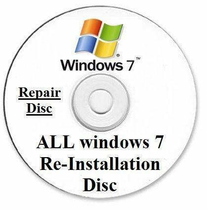 windows 7 reinstallation disc ebay. Black Bedroom Furniture Sets. Home Design Ideas