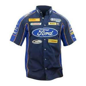 FORD PERFORMANCE RACING MENS RACETEAM SHIRT NAVY V8SUPERCARS   M L XL 2XL