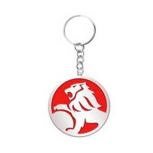 Holden Lion Embossed Red and Silver Keyring Chain Key Ring BNIP