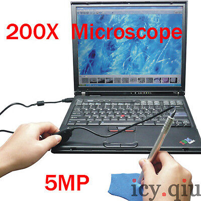 Mini Portable 200X USB Digital Microscope Endoscope Otoscope with LED 5MP on Rummage