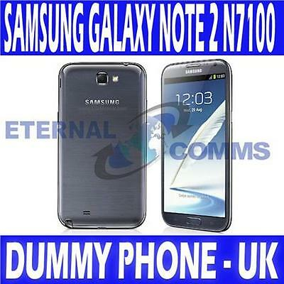 NEW SAMSUNG GALAXY NOTE 2 N7100 DUMMY DISPLAY PHONE - TITANIUM GREY - UK SELLER