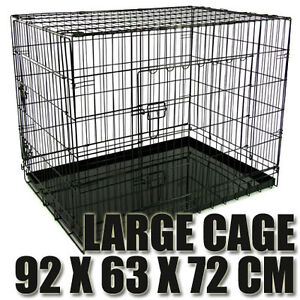 NEW-L-LARGE-36-COLLAPSIBLE-PET-DOG-CAT-METAL-CAGE-SOFT-CRATE-PUPPY-RABBIT-HOUSE