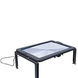 Wellys Lighted Full Page Magnifier with Folding Legs