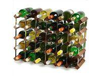 BRAND NEW Wine Rack - Dark Oak - 4x6 Hole [30 Bottles]