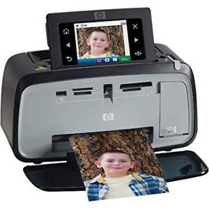 HP Photosmart A627 Compact Photo Printer - Case and New HP Ink