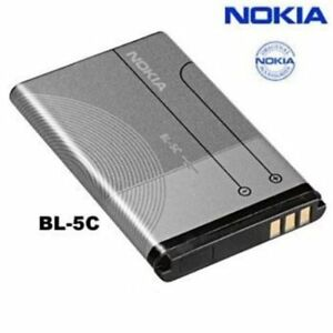 Genuine NOKIA OEM BL-5C or BL5C Li-Ion Cell Phone Battery