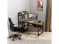 Almost new computer desk with 4 shelves