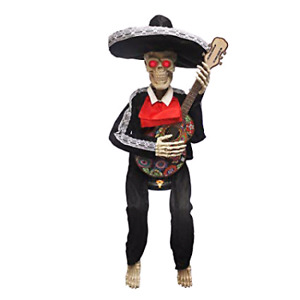 Day of the dead singing skeleton