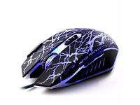 ZELOTES Black C-17 2500 DPI High Precision 8 Button LED Optical USB Wired Gaming Mice