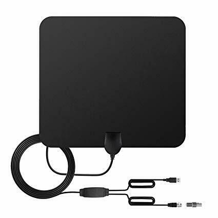 80 Miles flat HD digital tv antenna indoor Signal Amplifier
