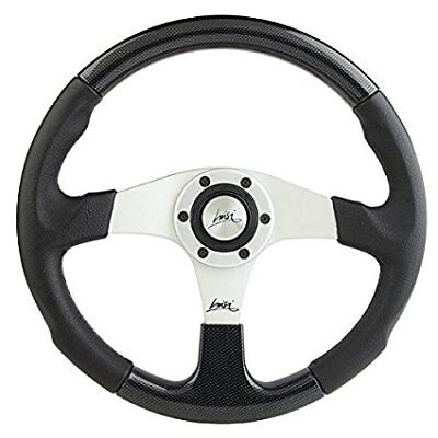 """SPORT LEATHER DISHED STEERING WHEEL 380mm 15/"""" LUISI MISTRAL MADE IN ITALY"""