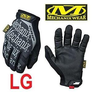 NEW MECHANIX GRIP GLOVES MEN'S LG - 109997372 - ORIGINAL GRIP GLOVE - BLACK - 1 PAIR (LEFT  RIGHT GLOVE)