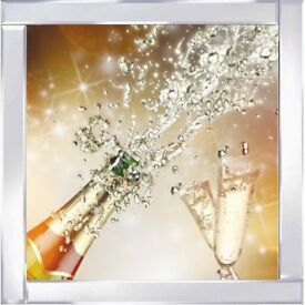 Glass Art Pictures - Champagne Bottle pop