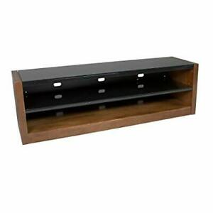 Kanto Mesa 64 AV Component TV Stand Bench, Black/Walnut