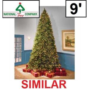 USED 1500 9' LIGHT CHRISTMAS TREE PEJF1-300-90 142755733 PRE LIT LED FEEL REAL NATIONAL TREE COMPANY JERSEY FRASER ME...