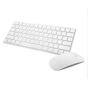 Apple Magic Mouse and Keyboard (White, Wireless, Barely Used)