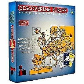 Discovering Europe Travel Game. Brand new in sealed box