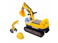 Ride On Excavator / Digger 2in1 for Toddlers Pedal Free Vehicle