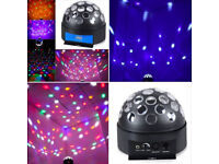 Multi Colour Moving Mirror Ball Bright LED Effect Lighting Stage Dance Dj Party Sensory Disco Light