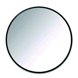"""Umbra Hub 37"""" Round Wall Mirror with Rubber Frame"""